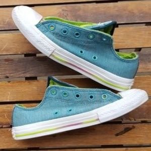 CONVERSE KIDS Blue Shoelace Tongue CHUCKS